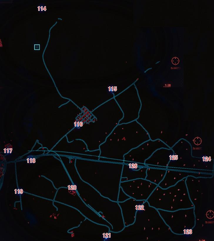 バッドランズ北のマップ