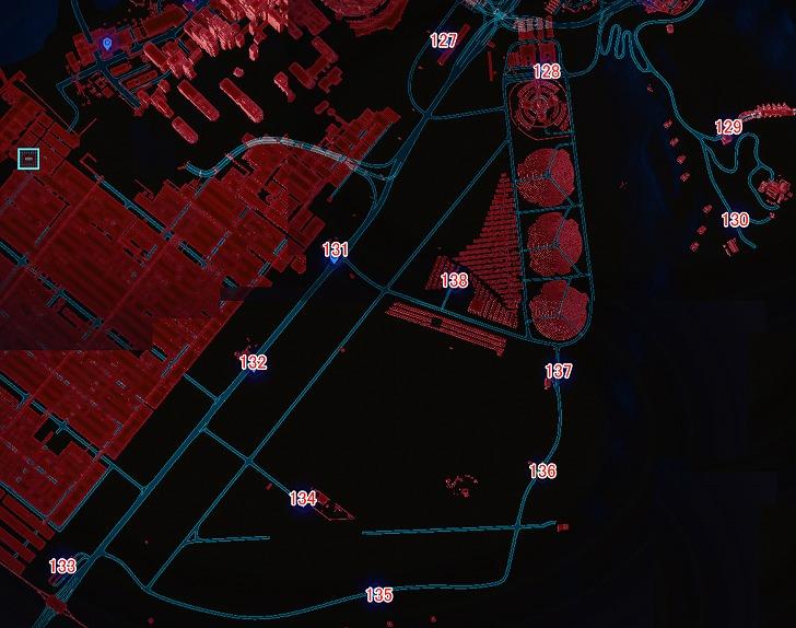 バッドランズ南のマップ