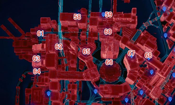 シティ・センターのマップ